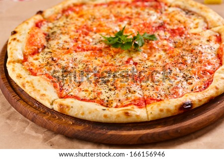 Pizza Margarita - stock photo