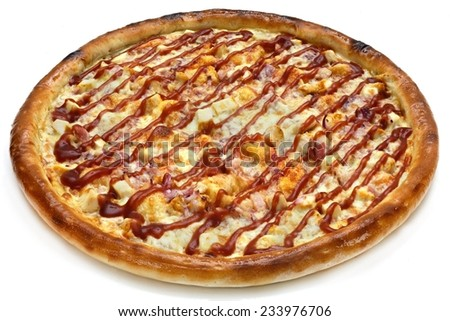 pizza on the white background