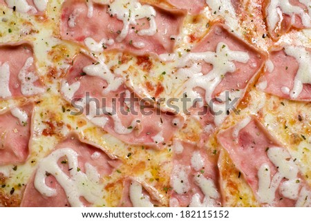 Pizza pattern. Isolated on a white background. Studio shot