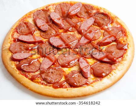 pizza, pizzas European and American cuisine, perfectly cooked and delicious kind of mastery of the chef, fast food