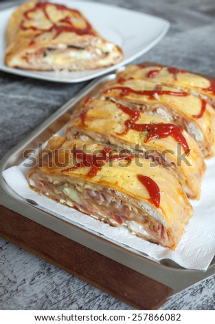 Pizza Sandwich - stock photo