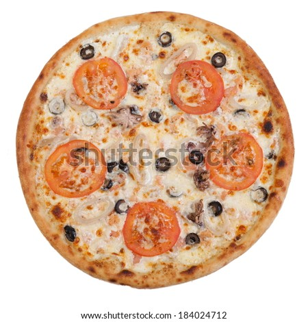 pizza with seafood  Chromakey