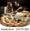 Pizzeria - stock photo