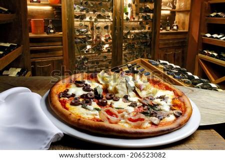 Pizzeria - stock photo