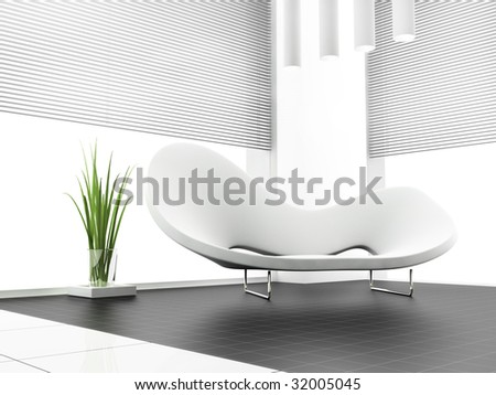 place for rest in apartment 3 d image - stock photo