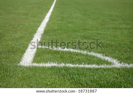 Place for soccer corner kick