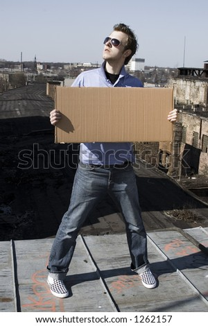 place for text - stock photo