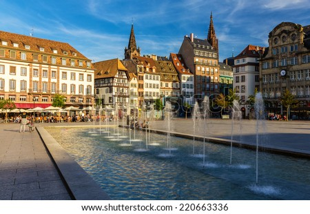 Place Kleber in Strasbourg - Alsace, France - stock photo
