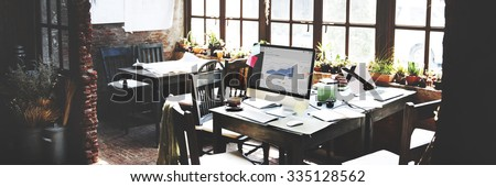 Place of Work Startup Workplace Indoors Concept - stock photo