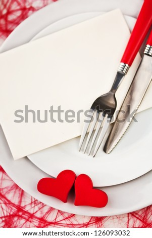 Place Setting with Copy Space - stock photo