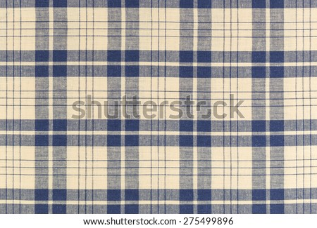 Plaid textile fabric background and texture - stock photo