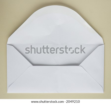 Plain back of an old envelope, before it's used for notes and ideas . .  . - stock photo
