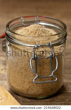 Plain Bread Crumbs. Selective focus. - stock photo