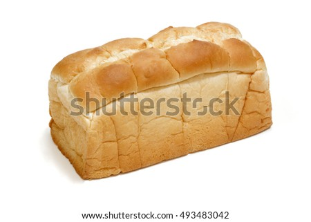 plain bread on a white background