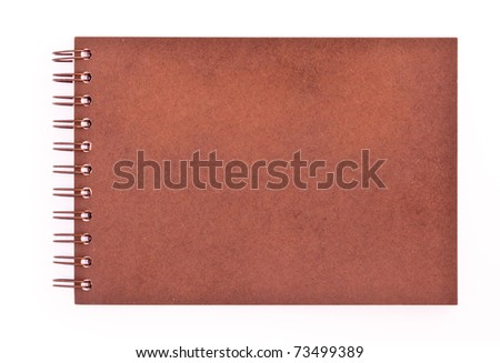 Plain cover of ring binder notebook. - stock photo