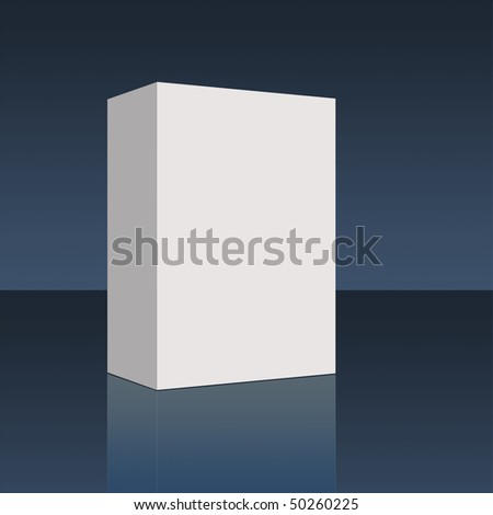 Plain empty pacakging box - illustration high resolution digital. - stock photo