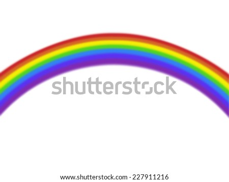 plain isolated curved colorful rainbow on white background - stock photo
