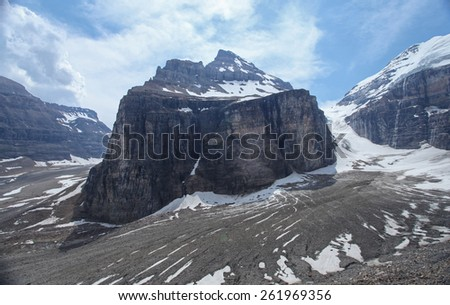 Plain of Six Glaciers in Banff National Park, Canada - stock photo