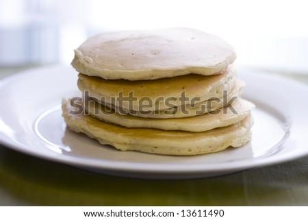 Plain Pancake stack - stock photo