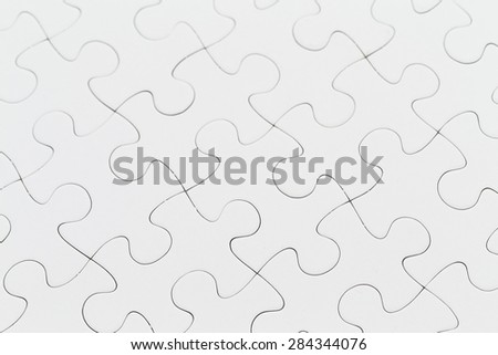 Plain puzzle - stock photo
