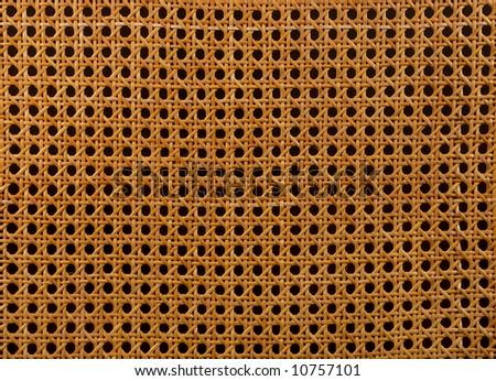 plaited straw background - stock photo