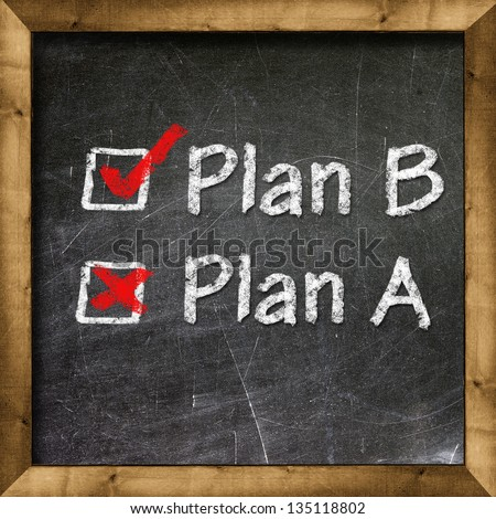 Plan A Plan B choice - stock photo