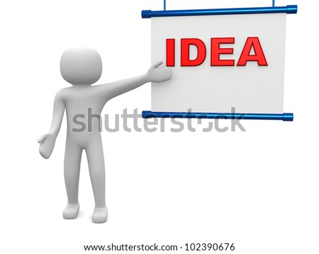 Plan concept.Isolated on white background.3d rendered. - stock photo