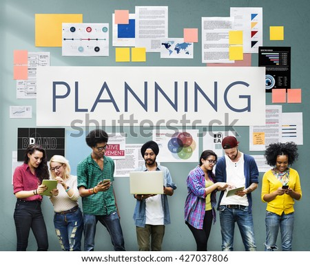Plan Planning Operations Solution Vision Strategy Concept - stock photo