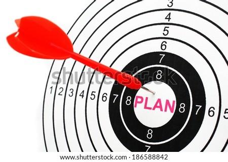 Plan target - stock photo