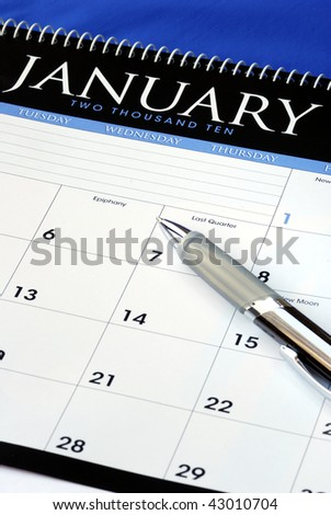 Plan the new year with the calendar