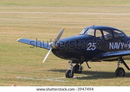 plane before start - stock photo