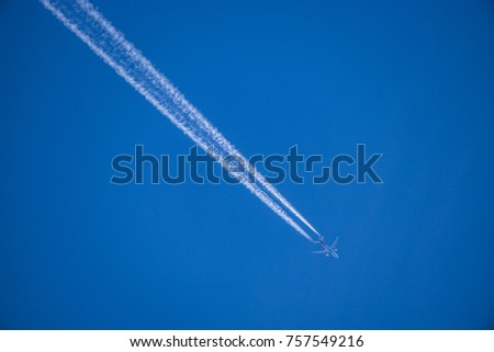 Plane in the skies