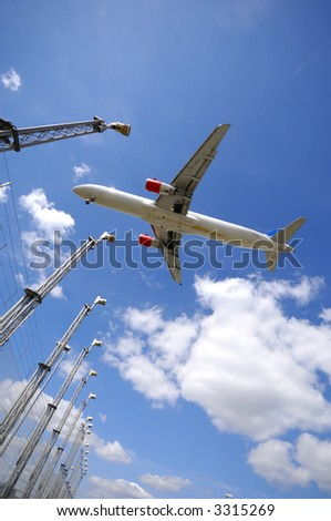 Plane is going to land - stock photo