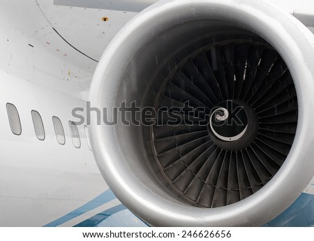 Plane motor - stock photo
