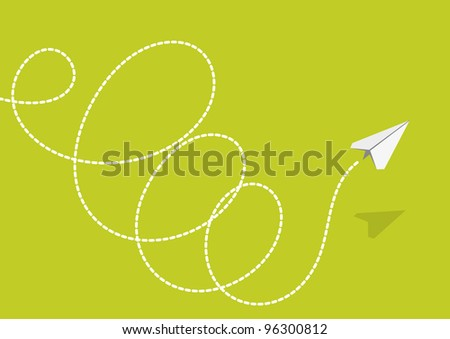 Plane of the paper - stock photo