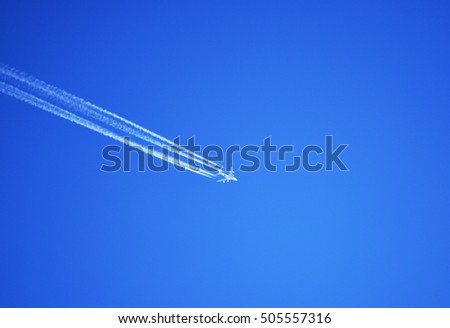 Plane on a blue background