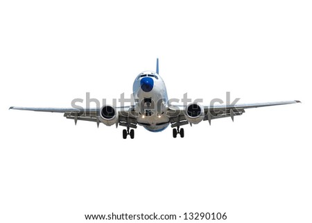 Plane on a clean white background