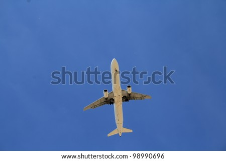 plane on approach and landing phase