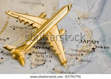 Plane Over Japan Map Is Copyright Free Off A Government Website Nationalatlas Gov