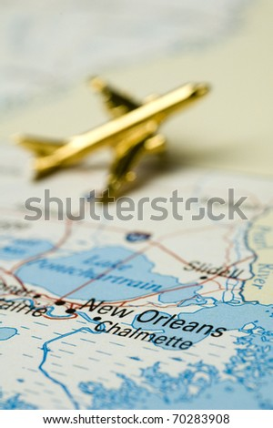 Plane Over New Orleans Louisiana Map Is Copyright Free Off Government Website Nationalatlas