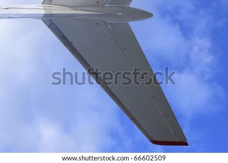 Plane's tail of passenger airplane - stock photo