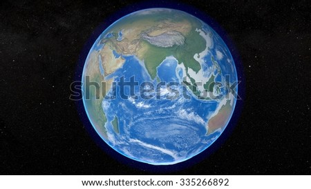 Planet Earth 3D Snapshot - India - Asia (Elements of this image furnished by NASA)