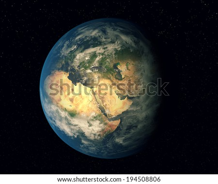 Planet Earth.Elements of this image furnished by NASA.