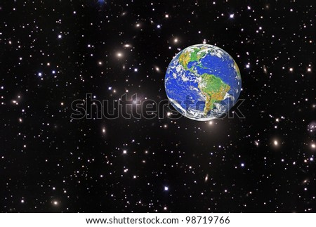 Planet earth.Elements of this image furnished by NASA