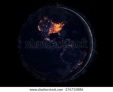 Planet Earth Galaxy Background - Ultra High Resolution Image (Elements of this image furnished by NASA)