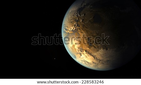Planet earth in black.Elements of this image are furnished by NASA - stock photo