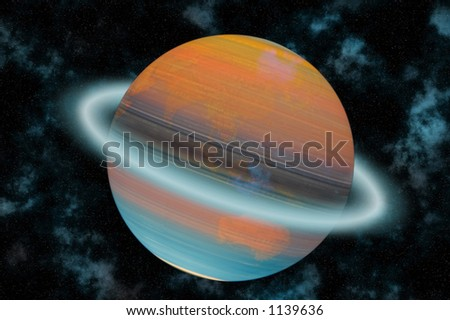 Planet earth spinning round - stock photo