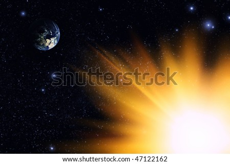 Planet Earth (use image from NASA site) - stock photo
