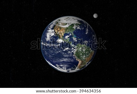 Planet Earth Wide Frame - American Continent (Elements of this image furnished by NASA) - stock photo