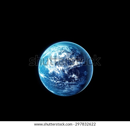 Planet earth with sun rising from space at night, Original image from NASA.gov - stock photo